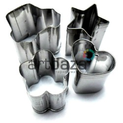 Набор металлических каттеров (резаков) для полимерной глины и пластилина, №1