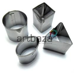 Набор металлических каттеров (резаков) для полимерной глины и пластилина, №2