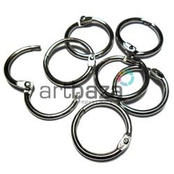 Набор колец металлических для переплета (скрапбукинга), разъёмных, ∅2.4 см., 7 штук, REGINA