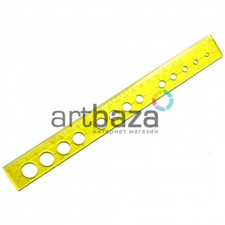 Линейка - шаблон для квиллинга, 25 см., Ø3 - 15 мм., BODA - купить инструменты для квиллинга