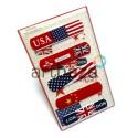 """Набор дизайнерского пластыря """"Flags of countries"""", 5 штук, Popular Fashion"""