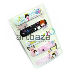 "Набор дизайнерского пластыря ""Girl`s diary"", 5 штук, Popular Fashion"