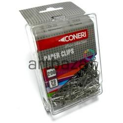 Скрепки канцелярские никелированные, треугольные, 28 мм., 200 штук, Coneri