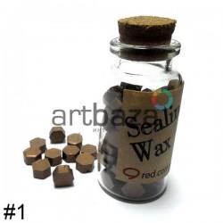 Сургуч декоративный красная бронза для печатей в таблетках, 60 - 70 штук