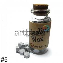 Сургуч декоративный серебряный для печатей в таблетках, 60 - 70 штук
