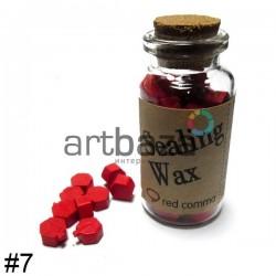 Сургуч декоративный ярко-красный для печатей в таблетках, 60 - 70 штук