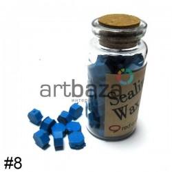 Сургуч декоративный синий для печатей в таблетках, 60 - 70 штук