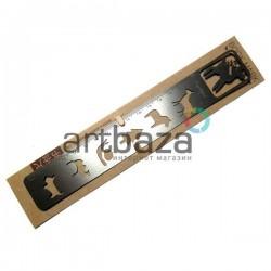 Трафарет - линейка металлический многоразовый, универсальный 20 см., Олень, Fun&Joy