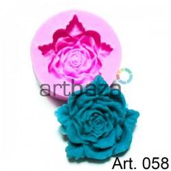 Силиконовый молд 3D (вайнер), роза, диаметр 5 см., толщина 1.5 см., REGINA