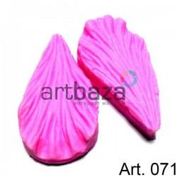 Силиконовый молд 3D (вайнер), лепесток гибискус 2 части, размер 5.5 х 3 см., толщина 1.8 см., REGINA