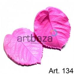 Силиконовый молд 3D (вайнер), лист розы 2 части, размер 8.5 х 6.5 см., толщина 2 см., REGINA
