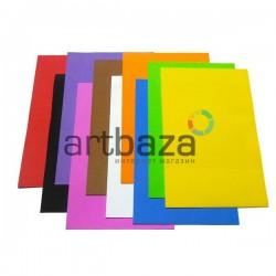 """Набор цветного пенокартона ФОМ ЭВА  """"Фоамиран"""" для флористики и декора, 20 х 30 см., 10 цветов, 10 листов, 1 мм."""