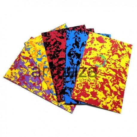 """Набор цветного пенокартона ФОМ ЭВА  """"Фоамиран"""" Хаки для флористики и декора, 20 х 30 см., 5 цветов, 10 листов, 2 мм."""