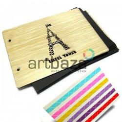 Альбом для скрапбукинга Eiffel Tower, под дерево, светлый, 21.5 х 15.5 см. ⭐ 2147 ⭐ 2000740227345