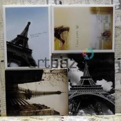 """Почтовые открытки для посткроссинга """"I love Paris"""", 105 х 144 мм., 15 открыток"""