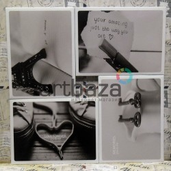 """Почтовые открытки для посткроссинга """"Memories You & Me"""", 105 х 144 мм., 15 открыток"""