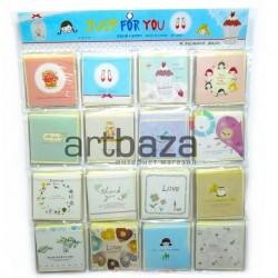 """Набор открыток """"Just for you"""" для посткроссинга, украшения букетов и цветов, 83 х 83 мм., 128 открыток"""