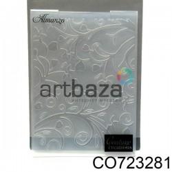 """Папка для тиснения эмбоссинг для скрапбукинга """"Almanzo"""", размер 10.5 х 14.3 см., Couture Creations"""