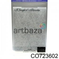 """Папка для тиснения эмбоссинг для скрапбукинга """"A Songbird`s Poinsettia"""", размер 10.5 х 14.3 см., Couture Creations"""