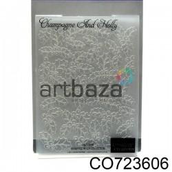 "Папка для тиснения эмбоссинг для скрапбукинга ""Champagne And Holly"", размер 10.5 х 14.3 см., Couture Creations"