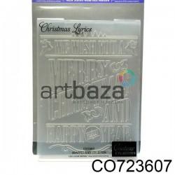 """Папка для тиснения эмбоссинг для скрапбукинга """"Christmas Lyrics"""", размер 10.5 х 14.3 см., Couture Creations"""