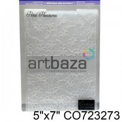 """Папка для тиснения эмбоссинг для скрапбукинга """"Petal Pleasures"""", размер 11.8 х 17.5 см., Couture Creations"""