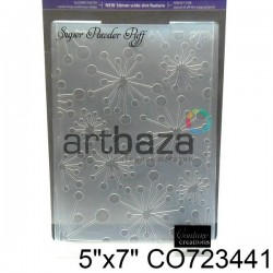 """Папка для тиснения эмбоссинг для скрапбукинга """"Super Powder Puff"""", размер 11.8 х 17.5 см., Couture Creations"""