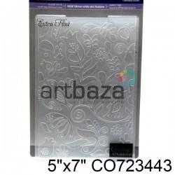 """Папка для тиснения эмбоссинг для скрапбукинга """"Extra Flint"""", размер 11.8 х 17.5 см., Couture Creations"""