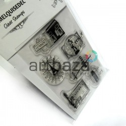 """Штампы для скрапбукинга (силиконовые штампы), набор """"Чудеса света"""", 9.5 х 14.5 см."""
