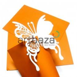"""Декоративные украшения для бокалов, посадочные карточки для гостей """"Бабочка"""", белые, 25 штук"""