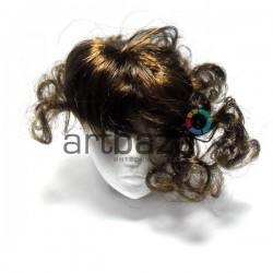 """Парик для куклы из искусственных волос """"каштан"""", REGINA"""