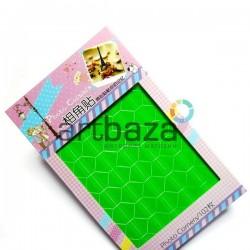 Уголки для альбомов и фотографий в скрапбукинге и кардмейкинге Photo Corners, цвет зеленый, 102 штуки
