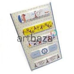 """Набор дизайнерского пластыря """"Bonjior Paris"""", 5 штук, Popular Fashion"""