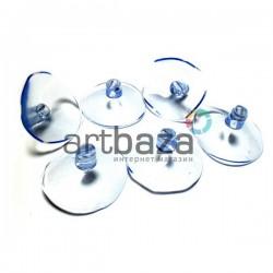 Набор универсальных силиконовых вакуумных присосок для игрушек и декора, Ø3 см., 6 штук, REGINA