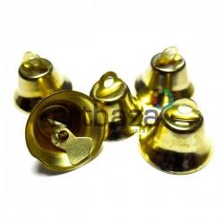 Набор колокольчиков металлических декоративных золотых, Ø2 см., высота 1.6 см., 5 штук, REGINA