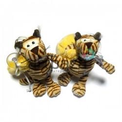 "Мягкая игрушка ""Тигр с мешком"" на присоске, NICI"
