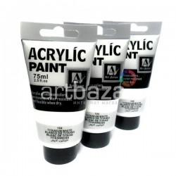 Краски акриловые художественные, Белила Титановые / Titanium White, 75 мл., Art Nation