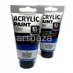 Краски акриловые художественные, Голубая ФЦ / Phthalo Blue, 75 мл., Art Nation