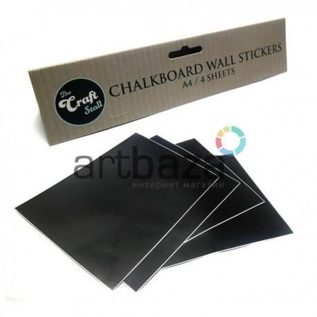 Набор листовых меловых наклеек (стикеров) А4, 4 штуки, The Craft Stall