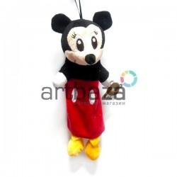 """Плюшевая  игрушка - пенал """"Микки Маус"""" с петелькой, EASY"""