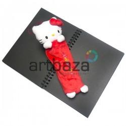 """Плюшевая  игрушка - пенал """"Hello Kitty"""" красная, с петелькой, Sanrio"""