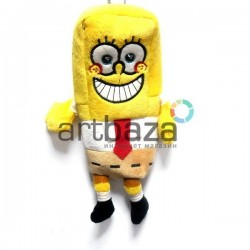 """Плюшевая  игрушка - пенал """"SpongeBob SquarePants"""", с петелькой, Nickelodeon"""