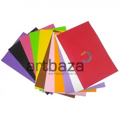 """Набор цветного пенокартона ФОМ ЭВА  """"Фоамиран"""" для флористики и декора, 20 х 30 см., 10 цветов, 10 листов, 2 мм."""