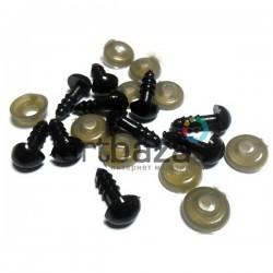 Набор черных декоративных носиков с креплением,  Ø8 мм., длина ножки 1 см., 10 штук