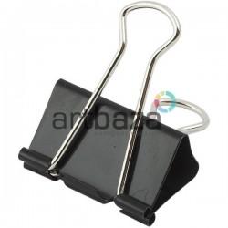 Биндеры черные, металлический зажим для бумаги, 15 мм., 12 шт.