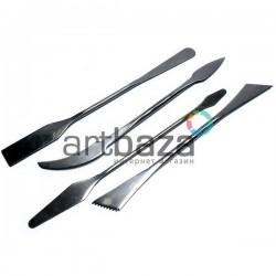 Набор стеков металлических двухсторонних, с зубцами, 19 см., 4 предмета, Jinyishouttao