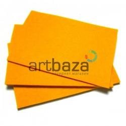 """Фетр для поделок и рукоделия """"Апельсиновый"""", 2 мм., 20 х 30 см."""