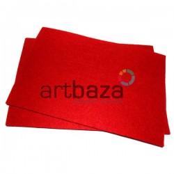 """Фетр для поделок и рукоделия """"Красный"""", 1 мм., 20 х 30 см."""