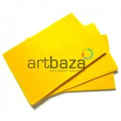 "Фетр для поделок и рукоделия ""Желтый"", 1 мм., 20 х 30 см."