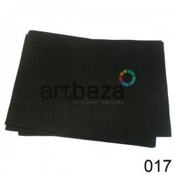 Фоамиран чёрный (пластичная замша), толщина 0.5 мм., 21 x 30 см.